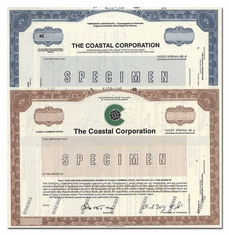Coastal Corporation (Specimen Set of 2 Pieces)