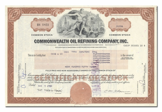 Commonwealth Oil Refining Company, Inc.