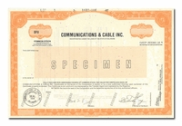 Communications & Cable Inc. (Specimen)