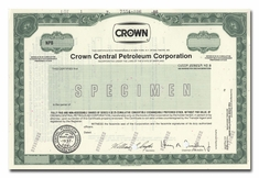 Crown Central Petroleum Corporation (Specimen)