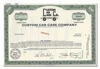Custom Car Care Company (Specimen)