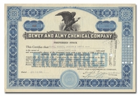 Dewey and Almy Chemical Company, Issued to Paine, Webber, Jackson & Curtis