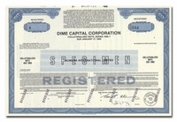 Dime Capital Corporation (Specimen)