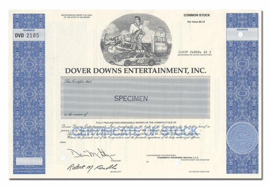 Dover Downs Entertainment, Inc. (Specimen)