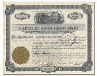 Ellenville and Kingston Railroad Company (Signed by Charles Sanger Mellen)
