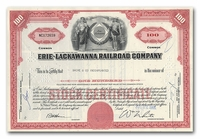 Erie-Lackawanna Railroad Company, Issued to Bache & Co.