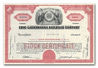Erie-Lackawanna Railroad Company, Issued to Dean Witter & Company
