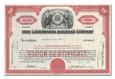 Erie-Lackawanna Railroad Company, Issued to Paine Webber, Jackson & Curtis