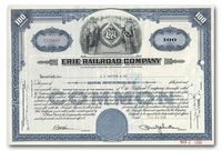 Erie Railroad Company, Issued to EF Hutton