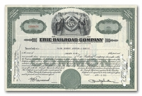 Erie Railroad Company, Issued to Paine Webber, Jackson & Curtis