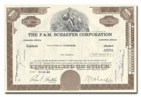 F. & M. Schaefer Corporation, Issued to Dean Witter & Company