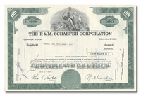 F & M Schaefer Corporation, Issued to Merrill Lynch, Pierce, Fenner & Smith