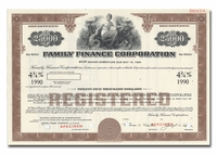 Family Finance Corporation (Specimen)