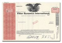Filter Dynamics International, Inc. (Specimen)