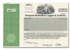 Freeport-McMoRan Copper & Gold Inc. (Specimen)