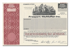Freeport-McMoRan Inc. (Specimen)