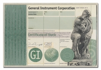General Instrument Corporation (Production Folder and Vignette Proof)
