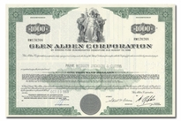 Glen Alden Corporation, Issued to Paine Webber