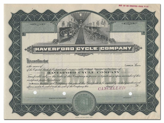 Haverford Cycle Company (Specimen)