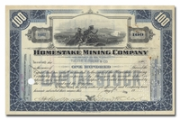 Homestake Mining Company, Issued to Tucker Anthony & Company