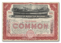 Hudson & Manhattan Railroad Company, Issued to Tucker Anthony & Company