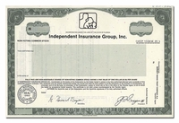 Independent Insurance Group, Inc. (Specimen)