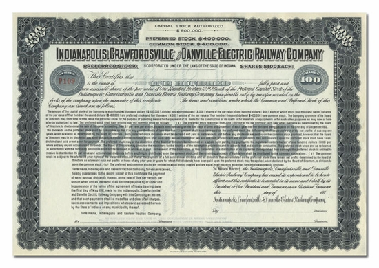 Indianapolis, Crawfordsville & Danville Electric Railway Company