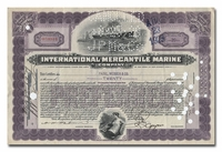 International Mercantile Marine Company, Issued to Paine Webber & Company