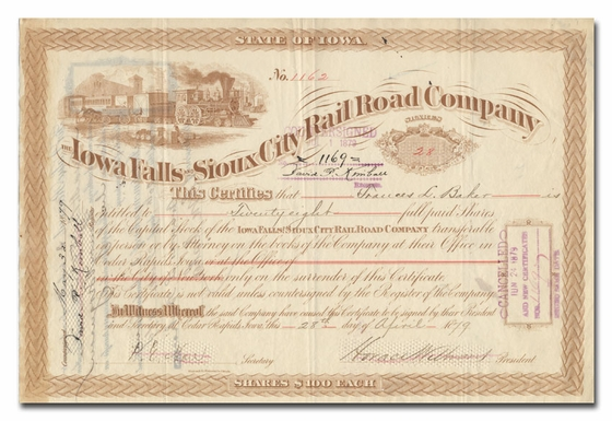 Iowa Falls and Sioux City Rail Road Company
