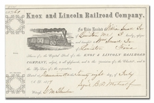 Knox and Lincoln Railroad Company
