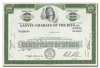 Lanvin-Charles of the Ritz, Inc.