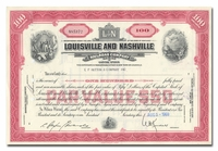 Louisville and Nashville Railroad Company, Issued to EF Hutton