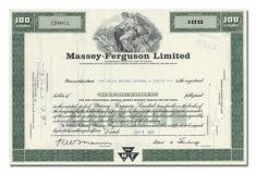 Massey-Ferguson Limited, Issued to Paine Webber, Jackson & Curtis