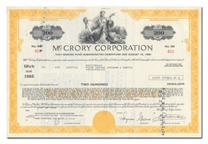 <br>McCrory Corporation, Issued to  Paine Webber, Jackson & Curtis