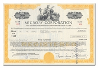 McCrory Corporation, Issued to  Paine Webber, Jackson & Curtis