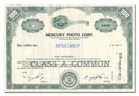 Mercury Photo Corp. (Specimen)