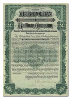 Metropolitan Cross-Town Railway Company (Signed by Peter AB Widener)