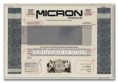 Micron Technology. Inc. (Working Proof with Vignette Sheet)