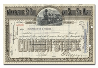 Minneapolis, St. Paul and Sault Ste. Marie Railway Company, Issued to Hornblower & Weeks