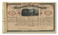Mississippi Valley Company (Signed by Absolom West)