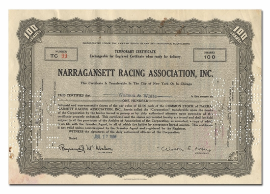 Narragansett Racing Association, Inc.