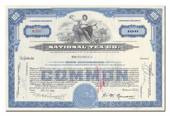 National Tea Company, Issued to Bear Stearns