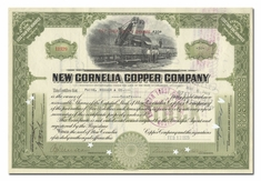 New Cornelia Copper Company, Issued to Paine, Webber & Co.