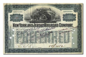 New York and Jersey Railroad Company, Signed by William Gibbs McAdoo
