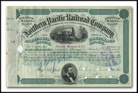 Northern Pacific Railroad Company (Issued to Drexel, Morgan Co. and Signed in JP Morgan's Hand)