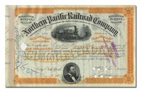 Northern Pacific Railway (Issued to Charles D. Barney & Company and Signed in Barney's Hand)