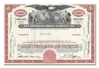 Pan American World Airways, Inc., Issued to Bache & Co.