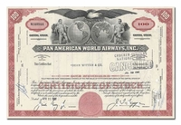 Pan American World Airways, Inc., Issued to Dean Witter & Company