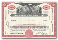 Pan American World Airways, Inc., Issued to Hayden Stone & Company