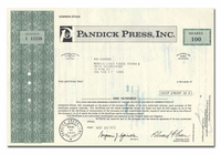 Pandick Press, Inc.